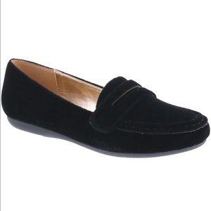 Bellini Black Birdie Velvet Penny Loafers